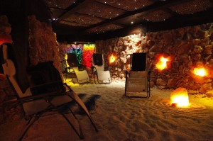 Comfortable relaxation in the Salt Cave